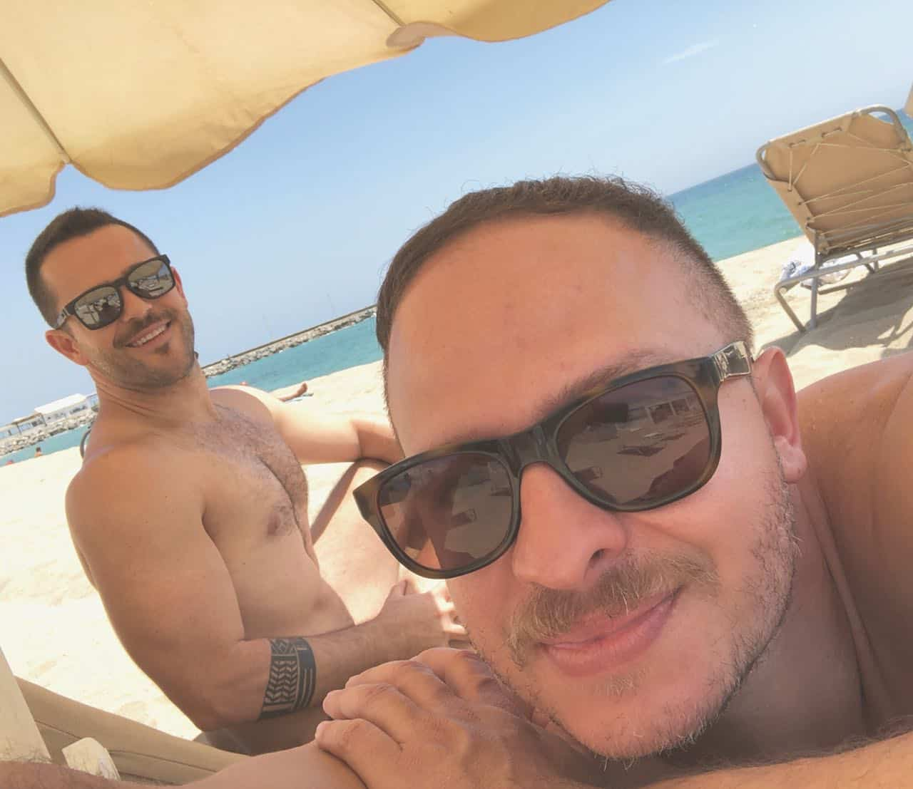 gay couple in Barcelona