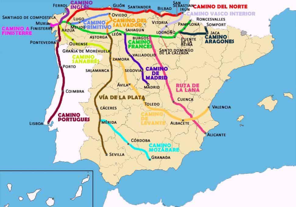 rutas camino de santiago saint james way