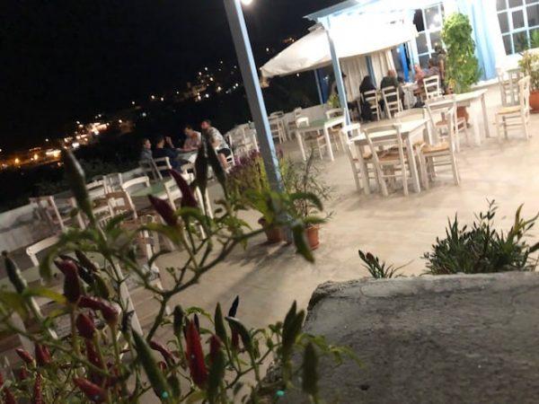 Ampelaki restaurant in donousa