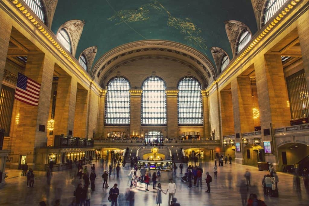 The Grand Central station in New York