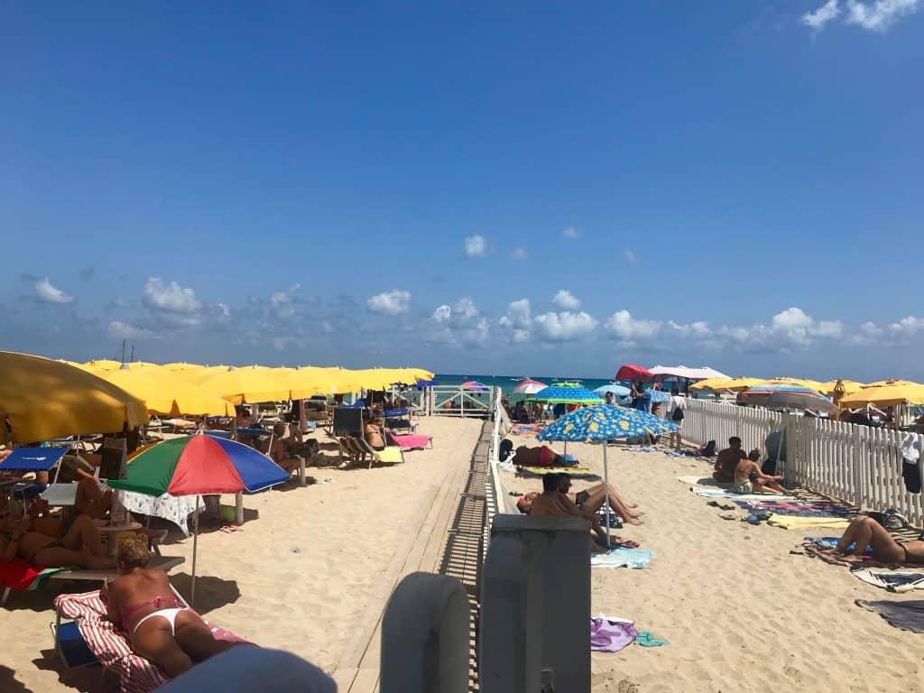 Beach Mondello in Palermo Sicily Italy