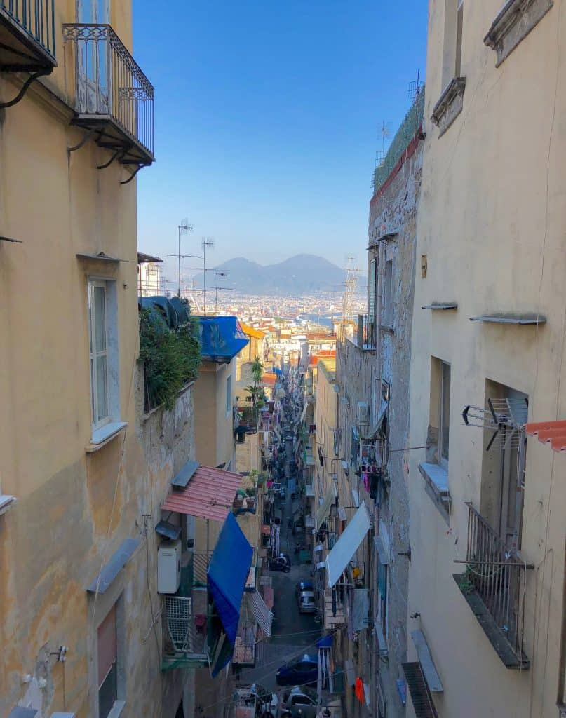 Naples city center and Vesuvius