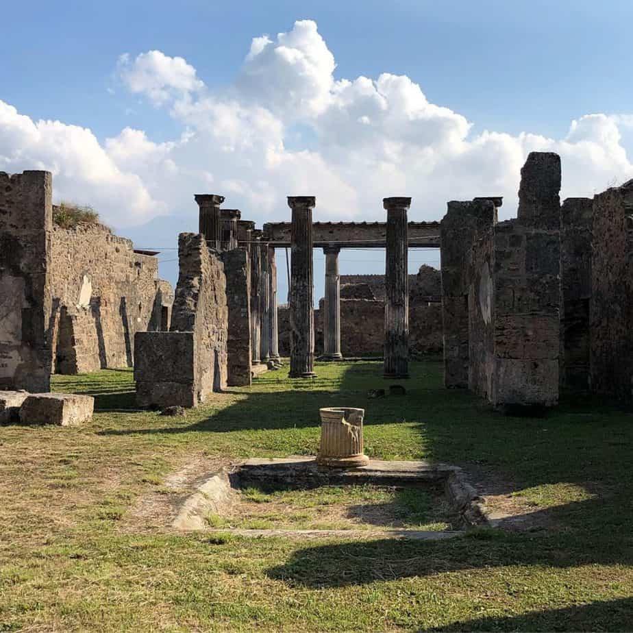 Pompeii ruins Naples Italy