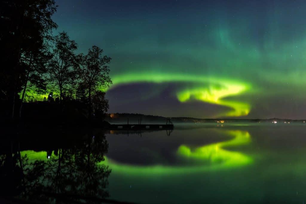 La aurora boreal en Finlandia