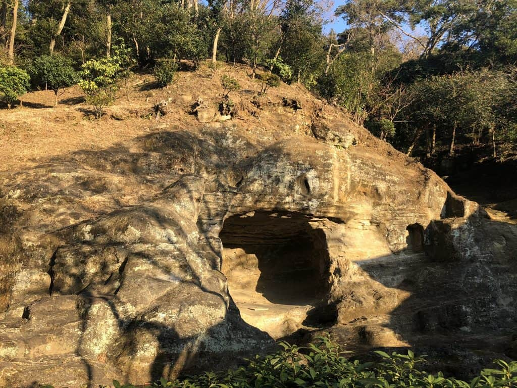 Zuisenji cave in temple in Kamakura Japan