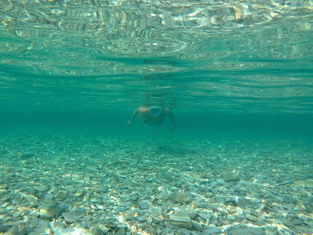 Swimming in Amorgos Greece