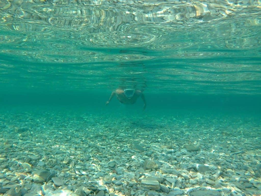 Swimming in Amorgos Greece