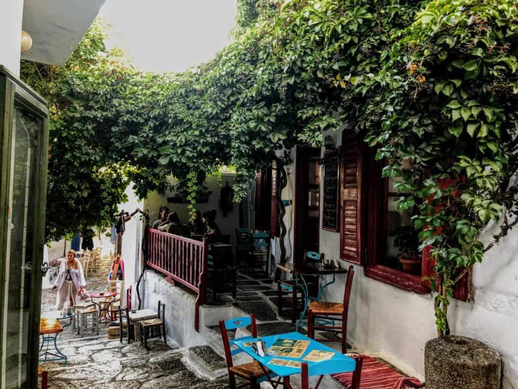 A street in Chora, Amorgos, Greek island