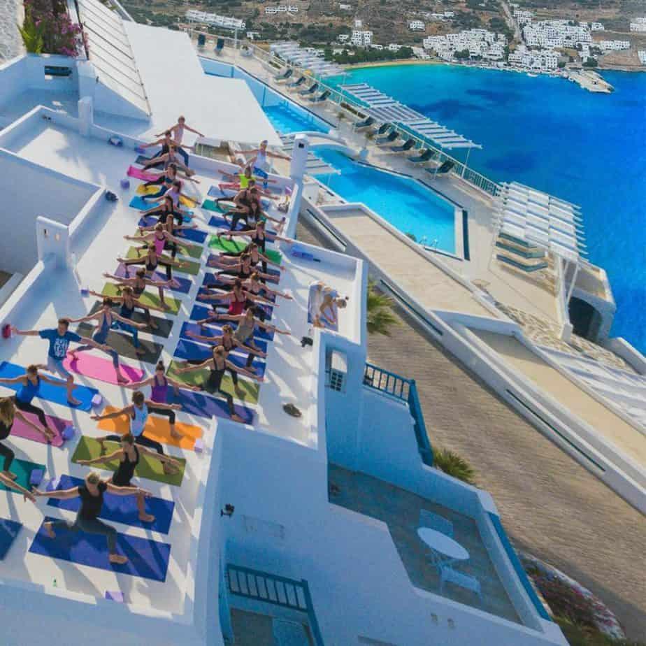 Azotea en Aegialis Hotel and Spa en Amorgos