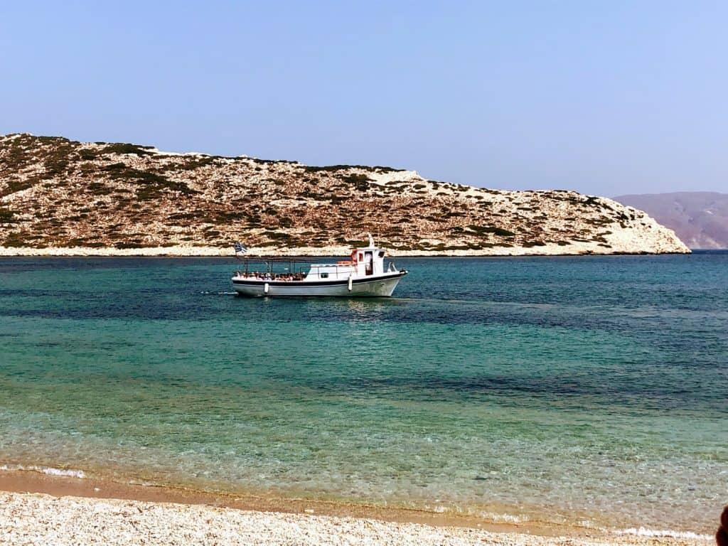 Agios Pavlos beach in Amorgós, Greece