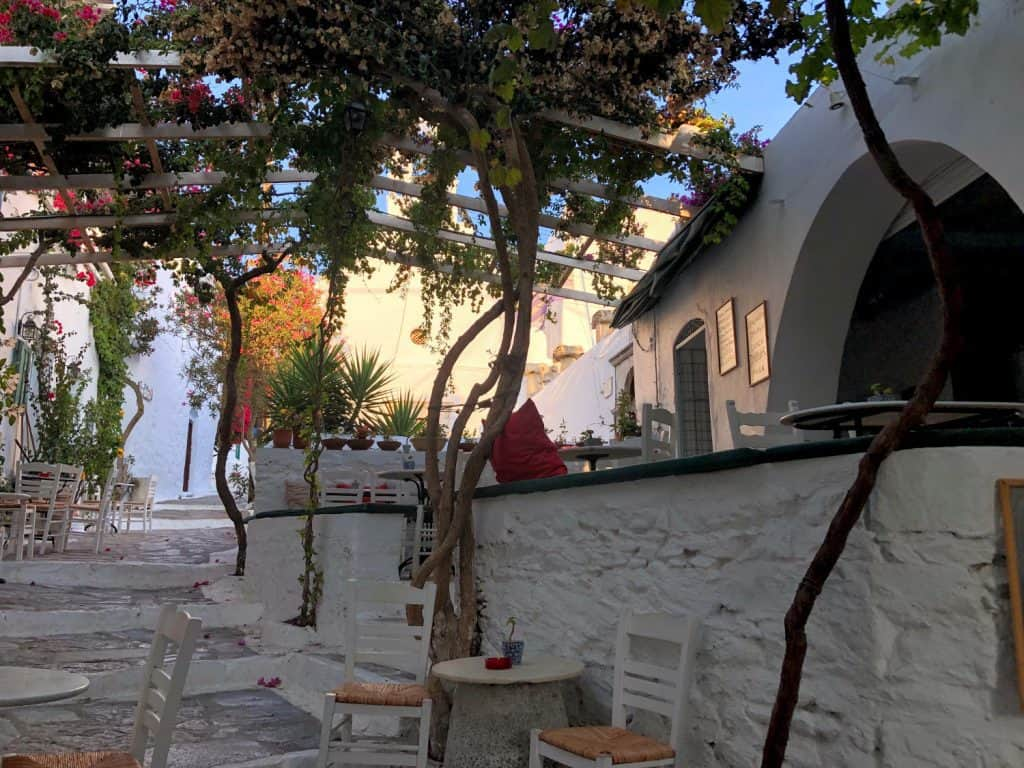 Street in Chora, Amorgos, Greece