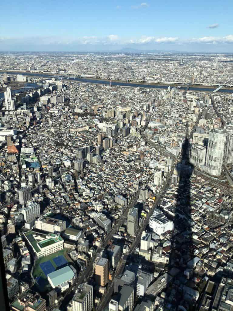 Vista de Tokio desde el skytree de Tokio