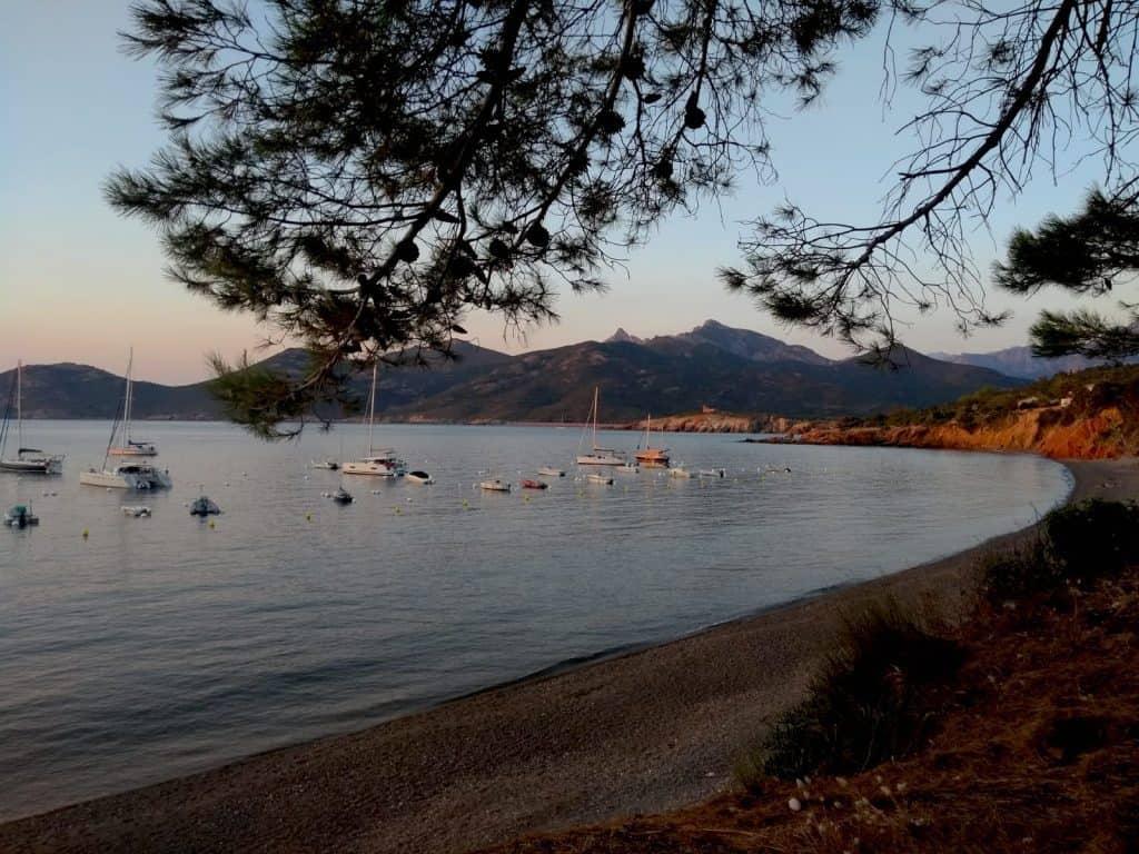 Sunset in Galeria beach Corsica