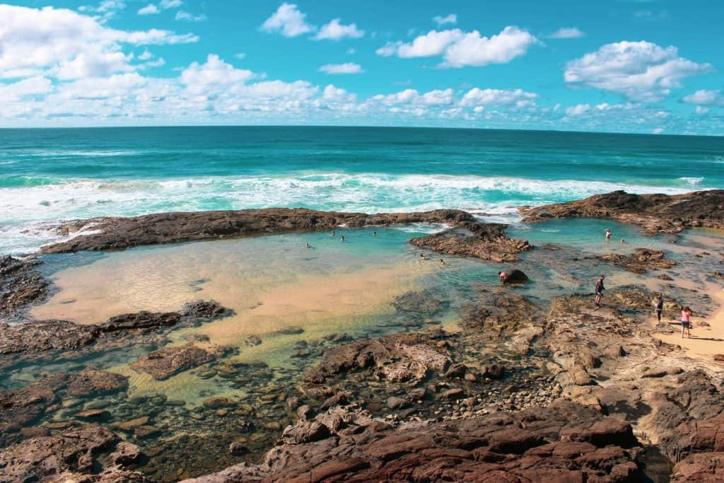 Sea pools at Fraser island Australia