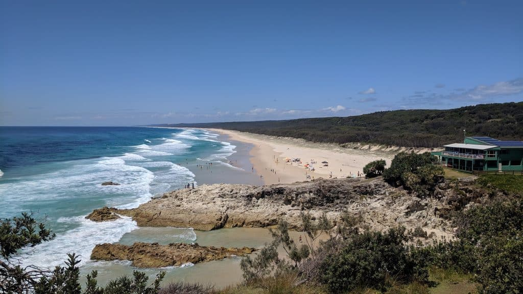 Beach on North Stradbroke Island Australia