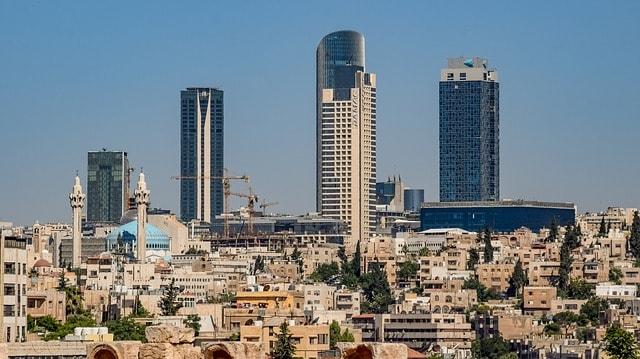 Skyline Amman city Jordan