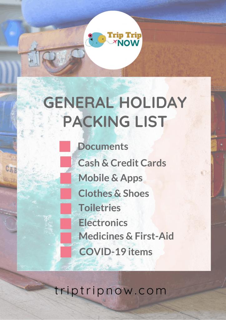 general basic travel packing list