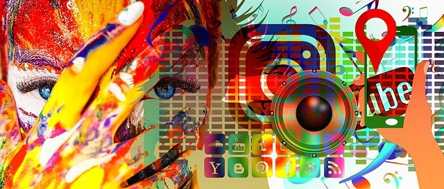 illustration about social media